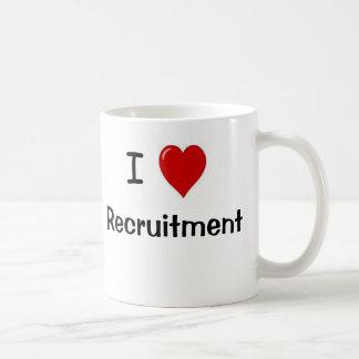 Amo el reclutamiento del reclutamiento me amo tazas