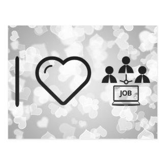 Amo el reclutamiento en línea tarjeta postal
