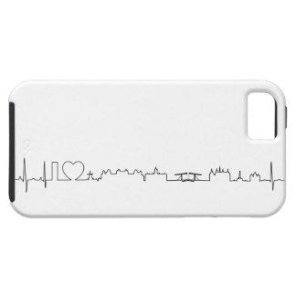 Amo el recuerdo de Amsterdam (estilo del ecg) iPhone 5 Case-Mate Cárcasas