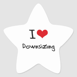 Amo el reducir la talla pegatina en forma de estrella