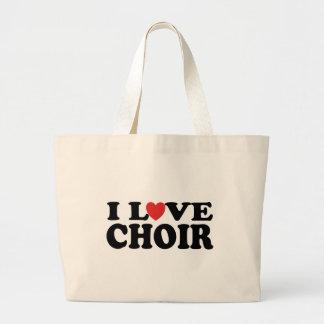 Amo el regalo de la bolsa de asas de la música del