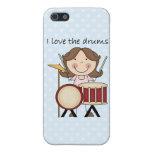Amo el regalo de la música de los niños de los tam iPhone 5 cobertura