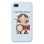 Amo el regalo de la música de los niños de los tam iPhone 4 cobertura