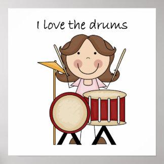 Amo el regalo de la música de los niños de los tam poster