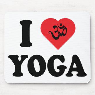 Amo el regalo de la yoga alfombrillas de ratones