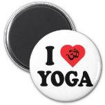 Amo el regalo de la yoga imán redondo 5 cm