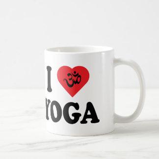Amo el regalo de la yoga taza de café