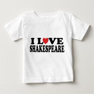 Amo el regalo de Shakespeare Remeras