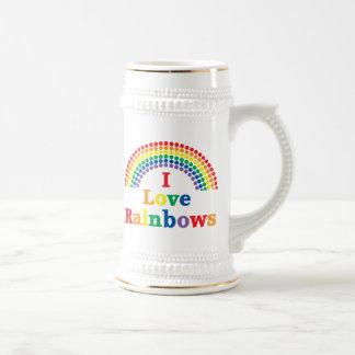 Amo el regalo del gay de los arco iris tazas