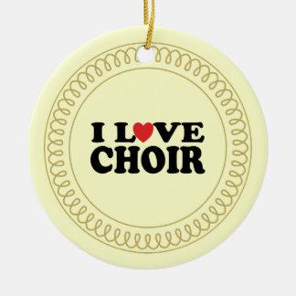 Amo el regalo musical del ornamento del canto del adornos de navidad