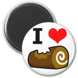 Amo el registro del chocolate imán redondo 5 cm