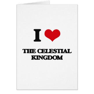 Amo el reino celestial tarjeta de felicitación