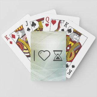 Amo el reloj de arena cartas de juego