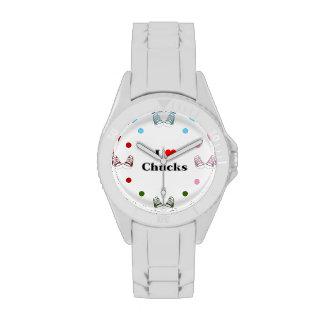 Amo el reloj de las tiradas (blanco)