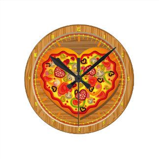 Amo el reloj de pared de los alimentos de