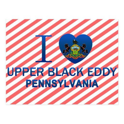 Amo el remolino negro superior, PA Tarjeta Postal