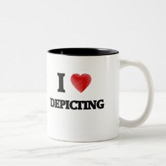 Amo el representar taza de dos tonos