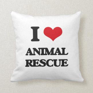 Amo el rescate animal cojin
