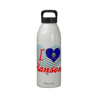 Amo el rescate Kansas Botellas De Agua Reutilizables