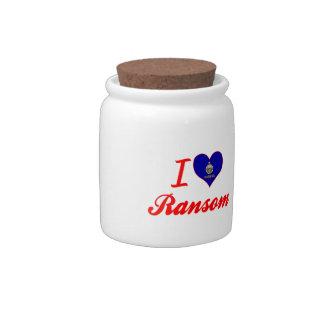 Amo el rescate Kansas Platos Para Caramelos