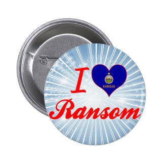 Amo el rescate Kansas Pin