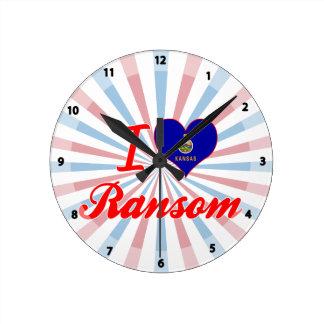 Amo el rescate Kansas Reloj De Pared