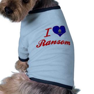 Amo el rescate Kansas Prenda Mascota