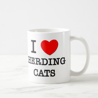 Amo el reunir de gatos taza clásica