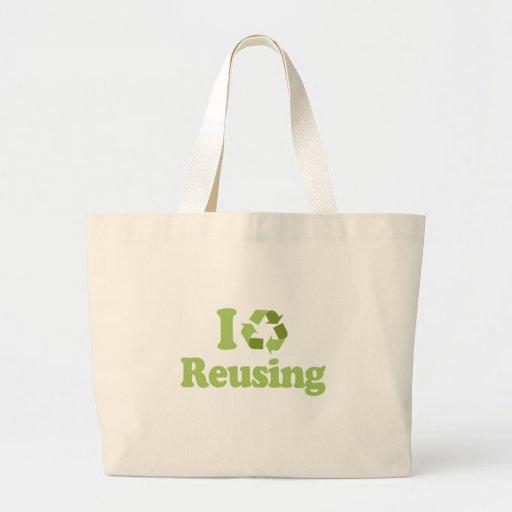 Amo el reutilizar bolsas lienzo