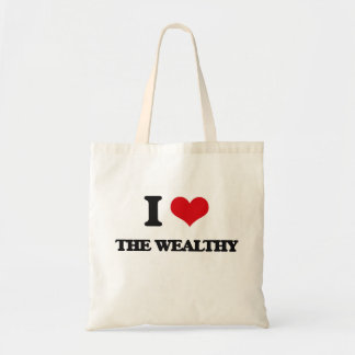 Amo el rico bolsa tela barata