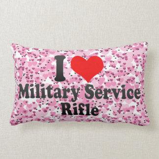 Amo el rifle del servicio militar cojines