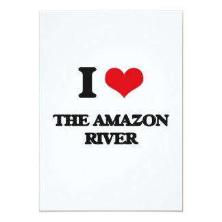 """Amo el río Amazonas Invitación 5"""" X 7"""""""