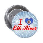 Amo el río de los alces, Minnesota Pin