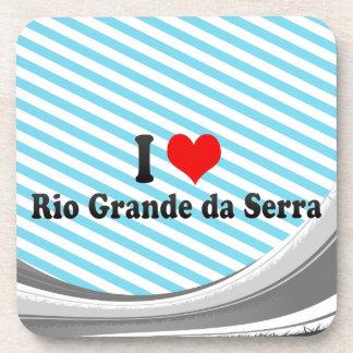 Amo el Rio Grande DA Serra, el Brasil Posavasos De Bebidas