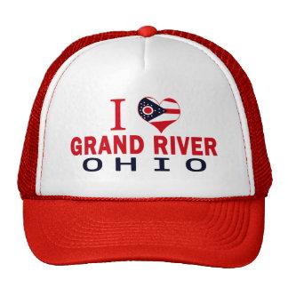 Amo el río magnífico, Ohio Gorros Bordados