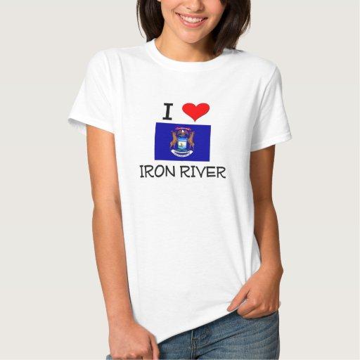 Amo el río Michigan del hierro T Shirts