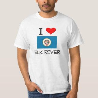 Amo el río Minnesota de los alces Playeras