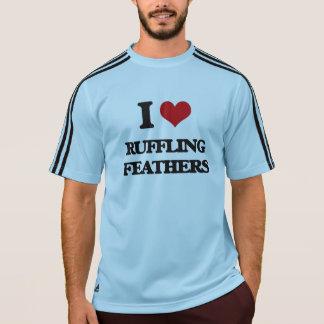 Amo el rizar de plumas camisetas