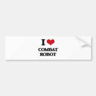 Amo el robot del combate etiqueta de parachoque