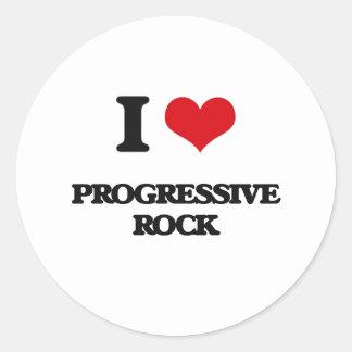 Amo el ROCK PROGRESIVO Etiqueta Redonda