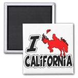 Amo el rodeo California Imán De Nevera