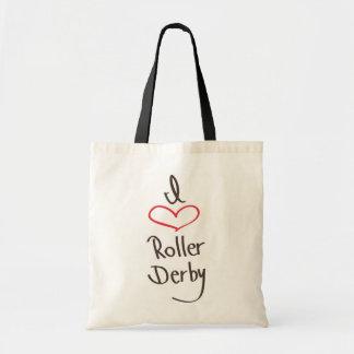 amo el rodillo derby bolsa de mano