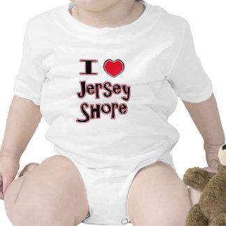 Amo el rojo de la orilla del jersey trajes de bebé
