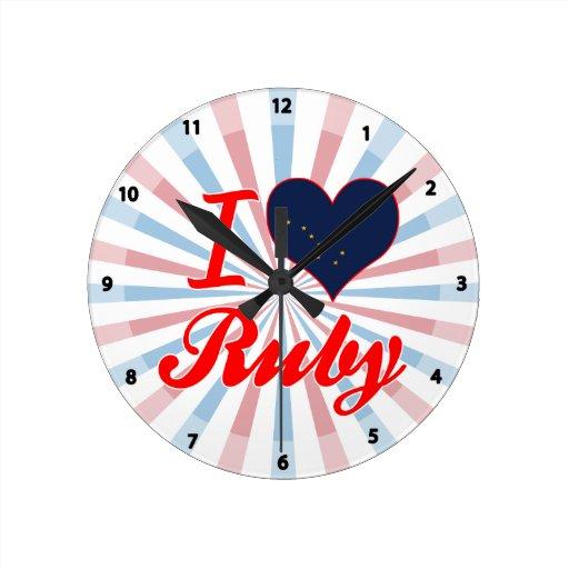Amo el rubí, Alaska Relojes