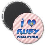 Amo el rubí, Nueva York Iman De Frigorífico
