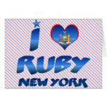 Amo el rubí, Nueva York Tarjeta