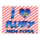 Amo el rubí, Nueva York Tarjetas Postales