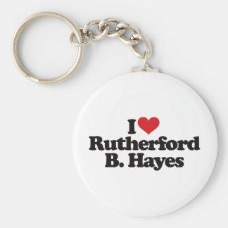 Amo el Rutherford B Hayes Llavero Redondo Tipo Pin