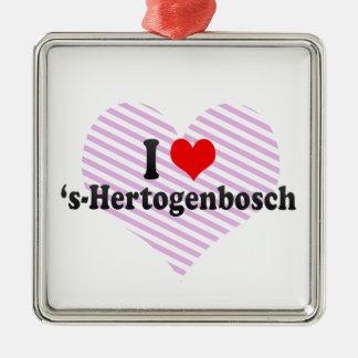 Amo el 's-Hertogenbosch, Países Bajos Adorno Navideño Cuadrado De Metal