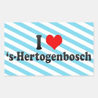 Amo el 's-Hertogenbosch, Países Bajos Pegatina Rectangular